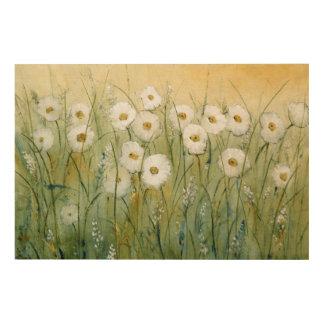 Daisy Spring I Wood Print