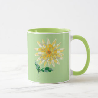 Daisy Stained Glass Mug - Mug Daisy