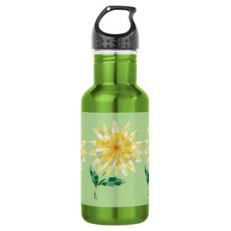 Daisy Stained Glass Water Bottle Bottle Daisy