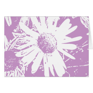 Daisy Stamp Design Card