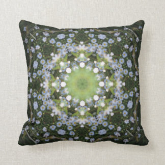 Daisy Starburst Mandala Throw Pillow