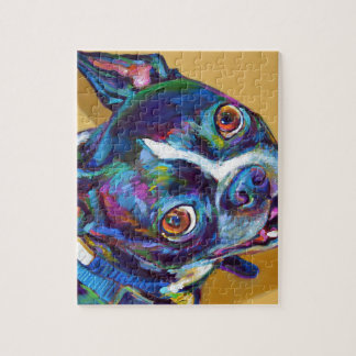 Daisy the Boston Terrier by Robert Phelps Puzzle