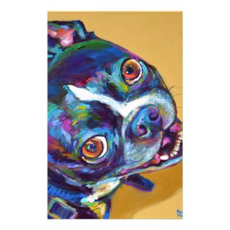 Daisy the Boston Terrier by Robert Phelps Stationery
