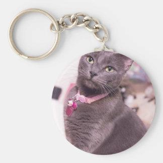 Daisy the Cat Key Ring