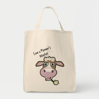Daisy, The Cow, Market Shopping Tote