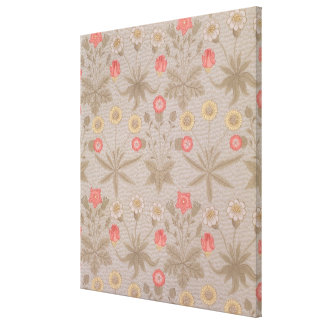 'Daisy', the first wallpaper designed by William M Stretched Canvas Prints