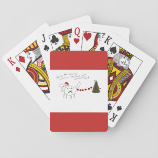 Daisy the Shih Tzu christmas playing cards!!! Playing Cards