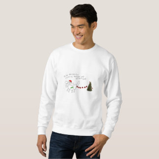 daisy the Shih Tzu mens christmas sweatshirt !!!