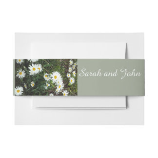 Daisy theme floral wedding Belly Bands Invitation Belly Band