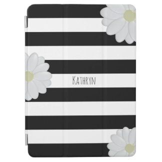 Daisy Trendy Striped iPad Cover with Custom Name