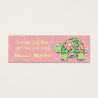 Daisy Turtle Playdate Card