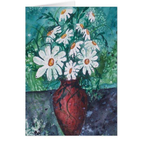 Daisy Vase Card