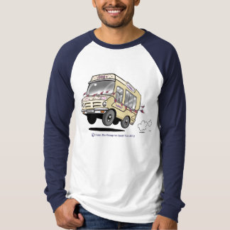 Daisy Vintage Ice Cream Van Boys Baseball Shirt