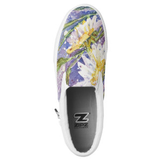 Daisy watercolor slip on shoes printed shoes