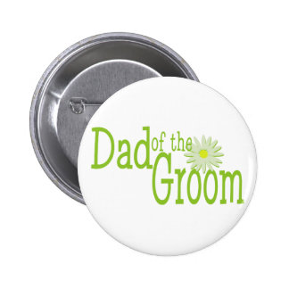 Daisy Wedding/ Dad of Groom 6 Cm Round Badge