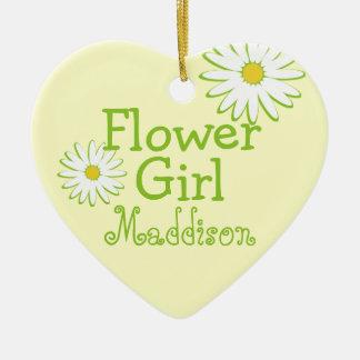 Daisy Wedding Flower Girl Ceramic Ornament