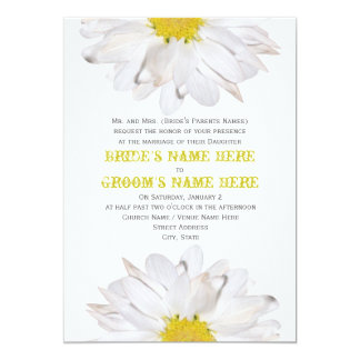 Daisy Wedding Invitation - From Bride's Parents