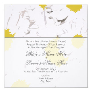 Daisy Wedding Invitation - From Bride's Parents