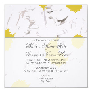 Daisy Wedding Invitation - Together With Parents