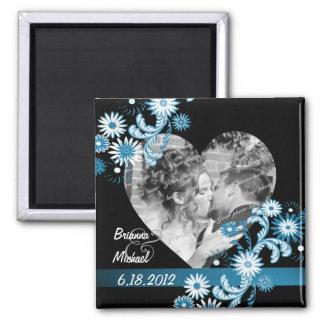 Daisy Wedding Photo Square Magnet