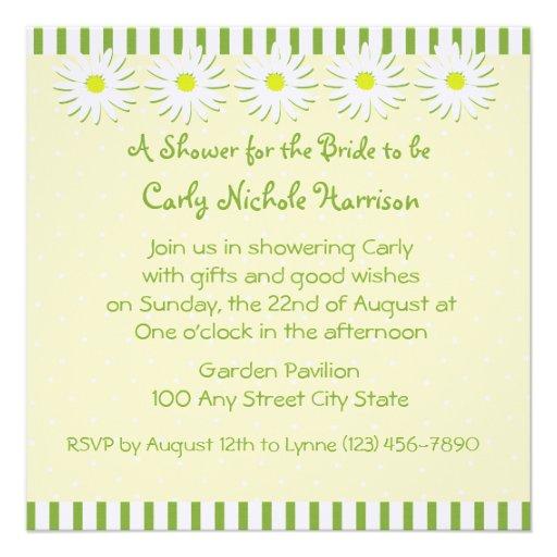 Daisy Wedding/ Shower Invitation