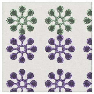 Daisy Wheel (Green and Blue) Fabric