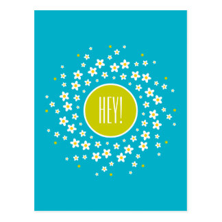 Daisy Wheel Motif Postcard