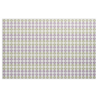Daisy Wheel (Yellow and Purple) Fabric