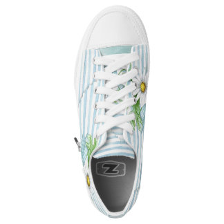 Daisy with Blue Stripes Low Tops