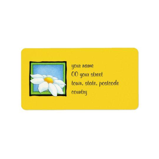 Daisy yellow Address Label