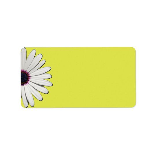 Daisy Yellow Address Labels