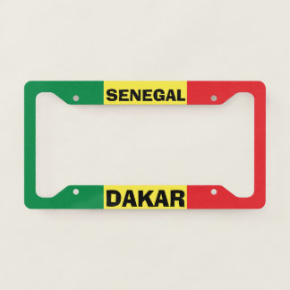 Dakar Senegal Custom License Plate Frame