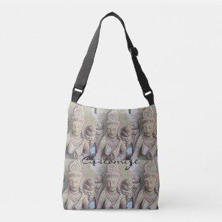 Dakini  buddha faces closeup crossbody bag