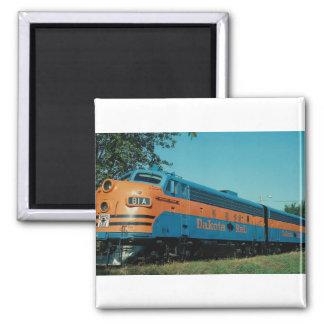 Dakota Rail, EMD F-7 a+b units, Sisseton, SD Fridge Magnet