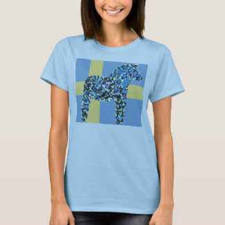 Dala Horse and Swedish Flag T-shirt copy