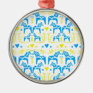 Dala Horse Metal Ornament
