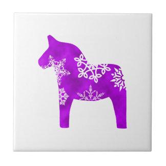 Dala Horse Snowflake Ceramic Tiles
