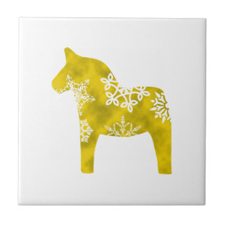 Dala Horse Snowflake Tile