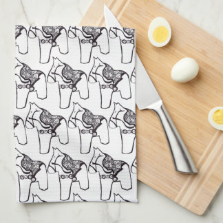 Dala Horses Tea Towel
