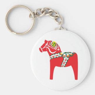 Dalahäst | Dala horse Basic Round Button Key Ring