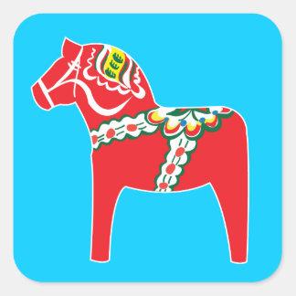 Dalahäst | Dala horse Square Sticker