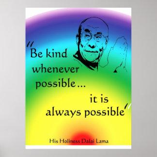 Dalai Lama: Be Kind Poster