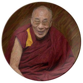 Dalai Lama Buddha Buddhist Buddhism Meditation Yog Plate