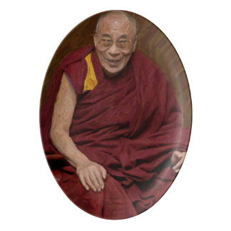 Dalai Lama Buddha Buddhist Buddhism Meditation Yog Porcelain Serving Platter