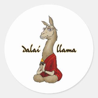 Dalai Llama Classic Round Sticker