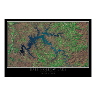Dale Hollow Lake Kentucky - Tennessee Satellite Poster