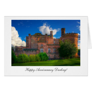 Dalhousie Castle - Happy Anniversay Darling Card