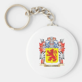 Dalla-Corte Coat of Arms - Family Crest Basic Round Button Key Ring