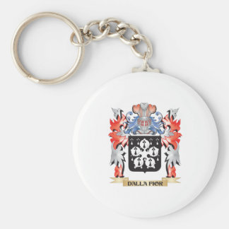 Dalla-Fior Coat of Arms - Family Crest Basic Round Button Key Ring