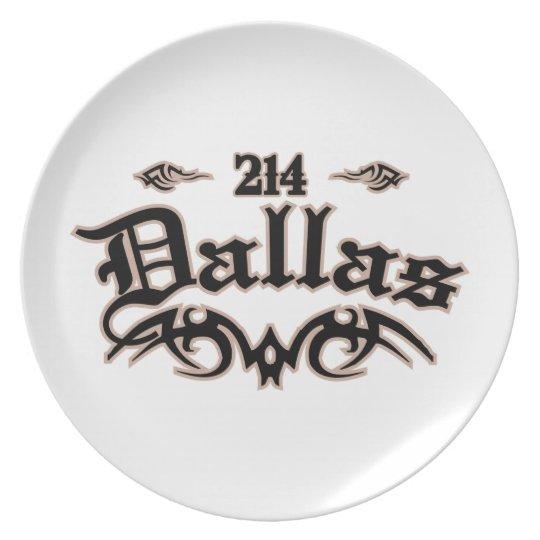 Dallas 214 plate
